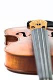 Skrzypcowy muzyczny instrument odizolowywający na bielu fotografia stock