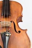 Skrzypcowy muzyczny instrument odizolowywający na bielu obraz royalty free