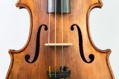 Skrzypcowy muzyczny instrument odizolowywający na bielu zdjęcia royalty free