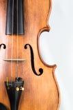 Skrzypcowy muzyczny instrument odizolowywający na bielu obrazy royalty free