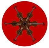 Skrzypki mandala wzór Zdjęcie Stock