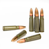 SKS Assault Rifle Bullets Royalty Free Stock Image
