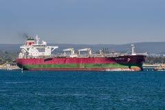 SKS Delta oil tanker berthed at Kurnell, Botany Bay - Australia. The shipping tanker SKS Delta unloading oil at Kurnell Refinery, Botany Bay Australia Stock Image