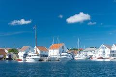 Skudeneshavn by i Norge royaltyfri fotografi