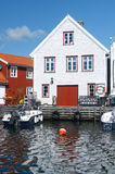 Skudeneshavn village in Norway Royalty Free Stock Photos