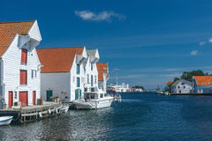 Skudeneshavn village in Norway Royalty Free Stock Images