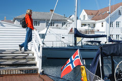 Skudeneshavn village in Norway Stock Photography
