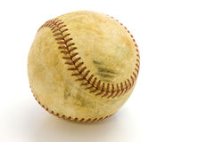 Skuffed Baseball-Right-Clipping Path. Old, skuffed baseball  on a white field with a clipping path Stock Photos