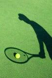 Skugga av en tennisspelare Royaltyfria Bilder