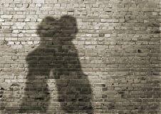 Skugga av manen och kvinnan royaltyfri bild