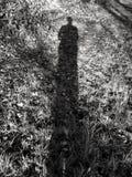 Skugga av själven i svartvitt Royaltyfria Bilder