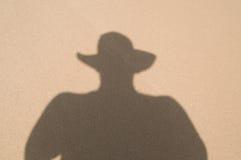 skugga för cowboyhatt Arkivfoto
