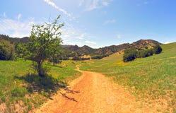 Skugga in i dalen Arkivfoto