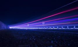 Skugga ljus av huvudvägen Arkivfoto