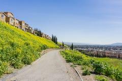 Skugga på telekommunikationkullen, San Jose, Kalifornien Arkivfoto