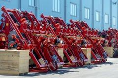 Skuggad jordbruks- utrustning Produkter av det jordbruks- maskineriet för växt för tillverkning av arkivfoton