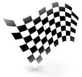Skuggad Racing flagga Fotografering för Bildbyråer