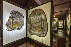 Skuggadockamuseum på Nang Yai Wat Khanon Arkivfoto