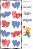 Skuggalek med valentin daghjärtor royaltyfri illustrationer