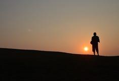 Skuggan av soluppgång Arkivbild
