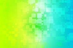 Skuggar blå gräsplan för den gula krickan glödande olik tegelplattabakgrund Royaltyfria Bilder