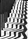 Skuggar geometriska former på trappa Royaltyfri Foto