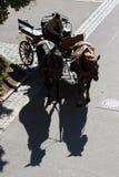 Skuggar i Rothenburg Royaltyfri Foto