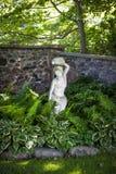 Skuggig perennträdgård Royaltyfri Foto
