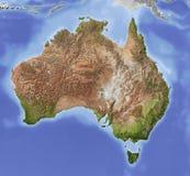 skuggning Australien översiktslättnad Arkivfoto