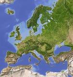 skuggning Europa översiktslättnad Royaltyfria Bilder