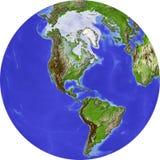 skuggning jordklotlättnad Arkivfoto