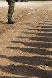 Skuggor av soldater Arkivfoton