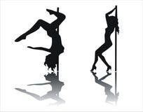 Skuggor av stripteasenumret Arkivbilder