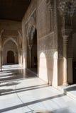 Skuggor i Alhambra Royaltyfria Bilder