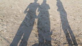 Skuggor i sanden Royaltyfri Fotografi