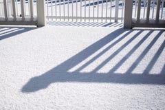 Skuggor och snö Royaltyfria Foton