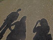 Skuggor på sanden Royaltyfria Bilder