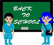 Skul bukol. Vecto illustration of students in class royalty free illustration