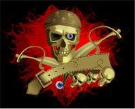 Skul da pirataria Imagem de Stock