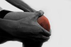 Skuldra-smärta Fotografering för Bildbyråer