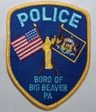 Skuldralappen av Boroen av den stora bäverpolisen i Pennsylvania royaltyfri fotografi