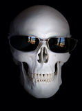 Skull 1. Front view of a skull wearing sunglasses Stock Photos