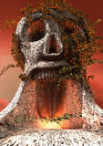 Skull. 3d rendering of a skull shaped tree Stock Images