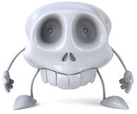 Skull. Fun 3D skull, 3d generated picture Stock Images