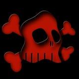 Skull. Original illustration of skull illuminated by red glow vector illustration