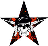 Skull. The  image of skull in beret with the crossed rifles Royalty Free Stock Photography