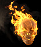 Skull. Flaming skull. isolated on black Royalty Free Stock Images