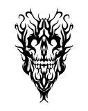 Skull. Nice vector skull, made form smoke. Vector file included Royalty Free Stock Photo