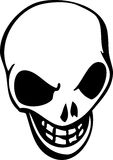 Skull. White cartoon style human skull Royalty Free Stock Images