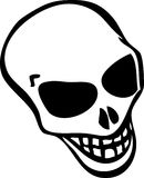 Skull. White cartoon style human skull Royalty Free Stock Photography